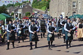 The New Lanark Victorian Fair held annually in September at New Lanark World Heritage site, South Lanarkshire.   Picture Credit: Andrew Wilson / Scottish Viewpoint?Tel: +44 (0) 131 622 7174  ?Fax: +44... Public, NMR world,heritage,victorian,entertainment,band,dancing,outdoors,fair,fayre,pipes,piper,bagpipes,history,historical,summer,sunny,event