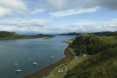 The Sound of Kerrera and Kerrera from above Gallanach near Oban, Argyll. Picture Credit: Keith Fergus / Scottish Viewpoint?Tel: +44 (0) 131 622 7174  ?Fax: +44 (0) 131 622 7175?E-Mail : info@scottishv... Public Sound of Kerrera,Kerrera,Coast,Coastline,Argyll & Bute,Oban,Highlands,Sea,Water,Seafood,Yachts,Boats,Mooring,Viewpoint,Scotland,Tourism,summer,sunny,sailing