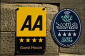 AA four star Guest House plaque and Scottish Tourist Board plate  TOURISM SCOTLAND  Picture Credit: D. Houghton / Scottish Viewpoint Tel: +44 (0) 131 622 7174   Fax: +44 (0) 131 622 7175 E-Mail : info... Public scottish,tourist,board,plaque,aa,four,star,signs,guest,house,plate,tourism,scotland,travel,accommodation,rating,hotel,signage,holiday,vacation,break,travels,holidays,vacations,breaks,information,visit