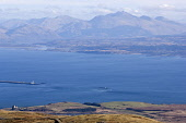 Loch Linnhe and Ben Cruachan from above Duart Castle on the Isle of Mull.  The lighthouse is on Eilean Musdile, the southern tip of Lismore.  Picture Credit: Alan Gordon /Scottish Viewpoint Tel: +44 (... Public Scotland,Scottish,Highlands,Mull,Munros,mountains,peaks,hills,loch,sea,sun,castle,walking,mountaineering,climbing,trekking,backpacking,sailing,outdoor,activities,tourist,destinations,scenic,Mountains|