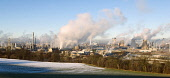 Grangemouth Refinery in winter. Picture Credit: Ross Graham  / Scottish Viewpoint  Tel: +44 (0) 131 622 7174  Fax: +44 (0) 131 622 7175  E-Mail : info@scottishviewpoint.com  This photograph cannot be... Public petrochemical,industry,industrial,technology,engineering,oil,pollution,sunny,panoramic