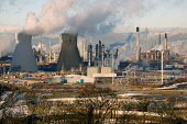 Grangemouth Refinery in winter. Picture Credit: Ross Graham  / Scottish Viewpoint  Tel: +44 (0) 131 622 7174  Fax: +44 (0) 131 622 7175  E-Mail : info@scottishviewpoint.com  This photograph cannot be... Public petrochemical,industry,industrial,technology,engineering,oil,pollution,sunny