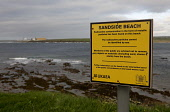 Sandside beach warning, Dounreay, Caithness, Highland. Picture Credit : Andy Bennetts / Scottish Viewpoint  Tel: +44 (0) 131 622 7174  Fax: +44 (0) 131 622 7175  E-Mail : info@scottishviewpoint.com  T... Public Bay,Beach,Caithness,CO2,Coast,Coastline,Electricity,Footprint,Green energy,Highlands,Nuclear,Power,Radioactive,Reactor,Reay,Sand,Sandside,Scotland,Sea,Seascape,Thurso,Warning,Water,Waves,No People,Ris