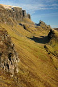 The Quiraing on the Trotternish peninsula, Isle of Skye, Inner Hebrides. Picture Credit: Ross Graham  / Scottish Viewpoint  Tel: +44 (0) 131 622 7174  Fax: +44 (0) 131 622 7175  E-Mail : info@scottish... Public mountain,cliffs,precipice,erosion,mountains,island,highland,highlands,coast,water,sunny,winter,snow