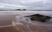 Yellowcraigs beach, East Lothian. Picture Credit : Andy Bennetts / Scottish Viewpoint  Tel: +44 (0) 131 622 7174  Fax: +44 (0) 131 622 7175  E-Mail : info@scottishviewpoint.com  This photograph cannot... Public Motion,Tranquil Scene,Nature,Horizontal,Outdoors,Long Exposure,Cloud,Wave,Day,Sea,Beach,Lighthouse,Island,Colour,No People,Photography,Horizon Over Water,Swirl.