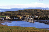 Kirkcudbright from the Stell, Dumfries and Galloway. Picture Credit: Allan Wright / Scottish Viewpoint Tel: +44 (0) 131 622 7174   Fax: +44 (0) 131 622 7175 E-Mail : info@scottishviewpoint.com This ph... Public architectecture,art,artists town,artists,blue,blue sky,boat,boats,bridge,bright,buildings,bushes,castle,church,clouds,coast,commercial fishing,county town,crisp,dark sky,Dee Estuary,dry,Dumfries & Gal