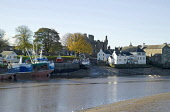 Kirkcudbright Harbour and fishing boats, Dumfries and Galloway. Picture Credit: Allan Wright / Scottish Viewpoint Tel: +44 (0) 131 622 7174   Fax: +44 (0) 131 622 7175 E-Mail : info@scottishviewpoint.... Public architectecture,art,artists town,artists,blue,blue sky,boat,boats,bridge,bright,buildings,bushes,castle,church,clouds,coast,commercial fishing,county town,crisp,dark sky,Dee Estuary,dry,Dumfries & Gal