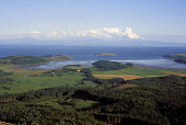 Solway Coast at Balcary Bay from Bengairn, Dumfries and Galloway. Picture Credit: Allan Wright / Scottish Viewpoint Tel: +44 (0) 131 622 7174   Fax: +44 (0) 131 622 7175 E-Mail : info@scottishviewpoin... Public agricultural,Balcary Bay,bay,beach,Bengairn hill,blue,blue sky,bright,coast,dry,Dumfries & Galloway,farming,field,forest,Galloway,grass,hills,horizon,island,kirkcudbrightshire,scotland,sea,sky,Solway