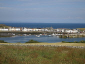 Isle of Whithorn, Dumfries and Galloway. Picture Credit: Allan Wright / Scottish Viewpoint Tel: +44 (0) 131 622 7174   Fax: +44 (0) 131 622 7175 E-Mail : info@scottishviewpoint.com This photograph can... Public agricultural agriculture,bay,blue sky,boat,buildings,buoys,cars,coast,dumfies and galloway,Dumfries & Galloway,dyke,field,grass,harbour,houses,mooring,moorings,road,scotland,scottish,sea,shore,street,