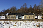 The restored Blacksboat Station on the Speyside Way - a long distance footpath, Moray. Picture Credit: Chris Robson / Scottish Viewpoint Tel: +44 (0) 131 622 7174   Fax: +44 (0) 131 622 7175 E-Mail :... Public disused,winter,sunny,snow,railway,highland