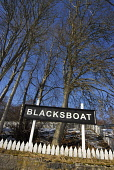 The sign for Blacksboat Station on the Speyside Way - a long distance footpath, Moray. Picture Credit: Chris Robson / Scottish Viewpoint Tel: +44 (0) 131 622 7174   Fax: +44 (0) 131 622 7175 E-Mail :... Public disused,winter,sunny,snow,railway,highland