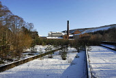 The disused Imperial Distillery at Carron on the Speyside Way - a long distance footpath, Moray. Picture Credit: Chris Robson / Scottish Viewpoint Tel: +44 (0) 131 622 7174   Fax: +44 (0) 131 622 7175... Public abandoned,winter,whisky,sunny,snow,industry,highland