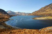 Loch Hourn, Highland. Picture Credit: Chris Robson / Scottish Viewpoint Tel: +44 (0) 131 622 7174   Fax: +44 (0) 131 622 7175 E-Mail : info@scottishviewpoint.com This photograph cannot be used without... Public highlands,water,sunny,spring,remote,panoramic,mountains,mountain,knoydart,hills,hill