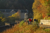 New Lanark World Heritage Site, South Lanarkshire. Picture Credit: Chris Robson / Scottish Viewpoint Tel: +44 (0) 131 622 7174   Fax: +44 (0) 131 622 7175 E-Mail : info@scottishviewpoint.com This phot... Public 18th century,visitor centre,sunny,restored,people,industry,industrialisation,heritage,clyde valley,building,autumnal,autumn,attraction,architecture