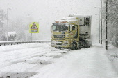 HGV stuck in snow on the closed A80 during adverse weather conditions Muirhead, North Lanarkshire. Picture Credit: Garry McHarg / Scottish Viewpoint Tel: +44 (0) 131 622 7174   Fax: +44 (0) 131 622 71... Public winter,sunny,cold,freezing,transport,lorry,snowing,jack knifed