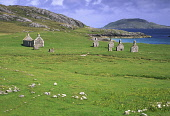The abandoned village of Eorasdail on the Island of Vatersay, Outer Hebrides. Picture Credit: Ian Paterson / Scottish Viewpoint Tel: +44 (0) 131 622 7174   Fax: +44 (0) 131 622 7175 E-Mail : info@scot... Public Bay,Eorasdail,Hebridean,Hebrides,Outer,Scotland,Scottish,Vatersay,abandoned,coast,coastal,deserted,empty,ends,gable,houses,island,isle,isles,isolated,landscape,remote,ruin,ruined,ruins,sad,small,tiny,
