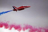 red arrows display team,raf leuchars airshow, fife, scotland,sep 2010 Picture Credit: Mark Hicken / Scottish Viewpoint Tel: +44 (0) 131 622 7174   Fax: +44 (0) 131 622 7175 E-Mail : info@scottishviewp... Public red arrows,display,team,airshow,aircraft,royal air force,raf,smoke,exciting,daring,spectacular,speed,colourful,BAE hawk T1,aerobatic,aeroplane,leuchars,scotland,september 2010
