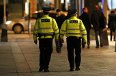 Police presence on Sauchiehall Street at night, in the city centre of Glasgow. Picture Credit: Garry McHarg / Scottish Viewpoint Tel: +44 (0) 131 622 7174   Fax: +44 (0) 131 622 7175 E-Mail : info@sco... Public, NMR beat,bobby,patrol,atmospheric,force,service,services,public