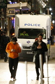 Police presence on Sauchiehall Street at night, in the city centre of Glasgow. Picture Credit: Garry McHarg / Scottish Viewpoint Tel: +44 (0) 131 622 7174   Fax: +44 (0) 131 622 7175 E-Mail : info@sco... Public, NMR beat,bobby,patrol,atmospheric,force,service,services,public,van