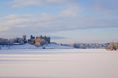 Looking across frozen Loch to Linlithgow Palace, Scotland, December, 2010 Pic: D. Barnes / Scottish Viewpoint  Tel: +44 (0) 131 622 7174  Fax: +44 (0) 131 622 7175  E-Mail : info@scottishviewpoint.com... Public Linlithgow,palace,snow,snowscape,ice,loch,Peel,frozen,winter,sunny,west,lothian,Scotland,UK,United,Kingdom,historic,Travel,heritage,tourist,Attraction,Tourism,Visitor