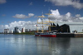 The Riverside (Transport) Museum, the Tall Ship (Glenlee) and the River Clyde, Glasgow Picture Credit : Keith Fergus / Scottish Viewpoint  Tel: +44 (0) 131 622 7174  Fax: +44 (0) 131 622 7175  E-Mail... Public Riverside Museum,Transport Museum,River Clyde,Glenlee,Tall Ship,Shipbuilding,Architecture,Design,Redevelopment,Govan,Reflection,Glasgow,City,Cloud,Summer,Scotland,Tourism,Visitor Attraction,UK,United