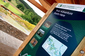 The Glentress Peel facility - gateway to the Tweed Valley Forest Park near Peebles catering for 300,000 visitors a year and includes a cafe, bike shop, bike hire, changing rooms, showers and toilets,... Public 2011,tourism,activity,modern,cycling,sunny,summer