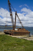 Crockness HOY ORKNEY Rusting crane barge used to salvage Scapa sunken naval vessels Picture Credit: Doug Houghton / Scottish Viewpoint Tel: +44 (0) 131 622 7174   Fax: +44 (0) 131 622 7175 E-Mail : in... Public orkney,crane,barge,salvage,scapa,flow,scrap,waste,scotland,scottish,destruction,disintegration,remains,rusting,metal,structure,damage,damaged,decayed,machine,winch,maritime,rusty,wreck,salvaging,recov