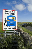 Dalespot ST OLA ORKNEY Bus stop safety traffic warning sign displayed at side main road with car Picture Credit: Doug Houghton / Scottish Viewpoint Tel: +44 (0) 131 622 7174   Fax: +44 (0) 131 622 717... Public bus,stop,safety,traffic,warning,sign,displayed,car,scotland,scottish,signpost,rural,village,outdoors,highway,high,way,speeding,inforcement,roadside,thoroughfare,roadway,notice,signboard,board,roadsign
