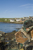 St Margarets Hope SOUTH RONALDSAY ORKNEY Lobster creels waterfront quayside harbour houses town Picture Credit: Doug Houghton / Scottish Viewpoint Tel: +44 (0) 131 622 7174   Fax: +44 (0) 131 622 7175... Public crabs,fish,pots,seafront,bay,harbour,houses,creels,scotland,scottish,harbor,fishing,shipping,shelter,haven,seas,inlet,historic,history,historical,port,scenic,scene,maritime,buildings,holiday,outdoors,
