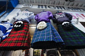 Tourist shop on the Lawnmarket, in the city centre of Edinburgh. Picture Credit : Andrew Wilson / Scottish Viewpoint Tel: +44 (0) 131 622 7174   E-Mail : info@scottishviewpoint.com This photograph can... Public, NMR 2011,summer,retail,shopping,old,town,royal,mile,tourism,tat,kilt,kilts,tartan,sporran,sporrans,clothes,clothing