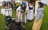 Scotland's Festival of History, Lanark, South Lanarkshire. Picture Credit : Andrew Wilson / Scottish Viewpoint Tel: +44 (0) 131 622 7174   E-Mail : info@scottishviewpoint.com This photograph cannot be... Public, NMR 2011,summer,event,attraction,costume,costumes,military,re-enactment,battle,cooking,wench