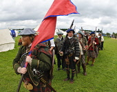 Scotland's Festival of History, Lanark, South Lanarkshire. Picture Credit : Andrew Wilson / Scottish Viewpoint Tel: +44 (0) 131 622 7174   E-Mail : info@scottishviewpoint.com This photograph cannot be... Public, NMR 2011,summer,event,attraction,costume,costumes,military,re-enactment,battle,tartan,kilt