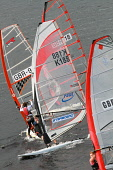 Windsurfing competition on St Mary's Loch in the Scottish Borders. Picture Credit : Jason Baxter / Scottish Viewpoint Tel: +44 (0) 131 622 7174   E-Mail : info@scottishviewpoint.com This photograph ca... Public 2011,summer,sunny,marys,mary,water,sport,watersport,activity,compete,sails,windsurf,hobby,enjoyment,people,windsurfer,windsurfers