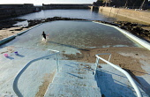 The outdoor swimming pool at Portknockie on the Moray coast. Picture Credit : Allan Wright / Scottish Viewpoint Tel: +44 (0) 131 622 7174   E-Mail : info@scottishviewpoint.com This photograph cannot b... Public bay,coastal,harbour,pier,sunny,summer,swimmer,lido,paddling