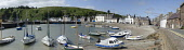 The harbour at Stonehaven, Aberdeenshire. Picture Credit : Allan Wright / Scottish Viewpoint Tel: +44 (0) 131 622 7174   E-Mail : info@scottishviewpoint.com This photograph cannot be used without prio... Public summer,sunny,coast,coastal,water,boat,boats,harbour,houses,moored,moorings,panoramic