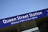 Queen Street Station in Glasgow city centre. Picture Credit : Chris Robson / Scottish Viewpoint Tel: +44 (0) 131 622 7174   Fax: +44 (0) 131 622 7175 E-Mail : info@scottishviewpoint.com This photograp... Public 2011,summer,sunny,sign,signage,transport,scotrail,rail,railway,gaelic