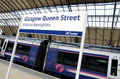 Queen Street Station in Glasgow city centre. Picture Credit : Chris Robson / Scottish Viewpoint Tel: +44 (0) 131 622 7174   E-Mail : info@scottishviewpoint.com This photograph cannot be used without p... Public 2011,interior,sign,signage,transport,scotrail,rail,railway,gaelic