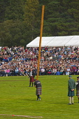 Braemar Highland Gathering, Aberdeenshire. Picture Credit : D Barnes / Scottish Viewpoint Tel: +44 (0) 131 622 7174   E-Mail : info@scottishviewpoint.com This photograph cannot be used without prior p... Public 2010,summer,sunny,september,games,competition,spectators,tradition,tourist,attraction,tourism,visitors,royal,deeside,heavy,event,caber,tossing