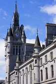 The spire of the Town House, Aberdeen city centre. Picture Credit : D Barnes / Scottish Viewpoint Tel: +44 (0) 131 622 7174   E-Mail : info@scottishviewpoint.com This photograph cannot be used without... Public 2011,summer,sunny,granite,building,architecture,clock,tower