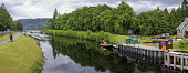 The Caledonian Canal at Fort Augustus, Highland Region. Picture Credit : D Barnes / Scottish Viewpoint Tel: +44 (0) 131 622 7174   E-Mail : info@scottishviewpoint.com This photograph cannot be used wi... Public 2011,summer,Loch,Ness,boats,cruising,tourist,attraction,water,panoramic