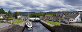 The Caledonian Canal at Fort Augustus, Highland Region. Picture Credit : D Barnes / Scottish Viewpoint Tel: +44 (0) 131 622 7174   E-Mail : info@scottishviewpoint.com This photograph cannot be used wi... Public 2011,summer,Loch,Ness,boat,yacht,sailing,activity,cruising,tourist,attraction,water,panoramic