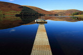 A perfectly calm St Marys Loch, Scottish Borders. Picture Credit : Jason Baxter / Scottish Viewpoint Tel: +44 (0) 131 622 7174   E-Mail : info@scottishviewpoint.com This photograph cannot be used with... Public 2011,reflection,glass,mirror,sunny,marys,jetty,pontoon,pier,autumn,serene,landscape,countryside,rural,atmospheric,quiet,still,stillness,water,scenery,scenic