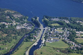 Fort Augustus at the south west end of Loch Ness, Highlands of Scotland. Picture Credit : Peter Scott / Scottish Viewpoint Tel: +44 (0) 131 622 7174   E-Mail : info@scottishviewpoint.com This photogra... Public 2009,summer,sunny,aerial,hill,hills,water,village,caledonian,canal
