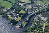 The former abbey at Fort Augustus at the south west end of Loch Ness, Highlands of Scotland. Picture Credit : Peter Scott / Scottish Viewpoint Tel: +44 (0) 131 622 7174   E-Mail : info@scottishviewpoi... Public 2009,summer,sunny,aerial,hill,hills,water,village,caledonian,canal