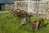 Old and rusty farming equipment at Duirinish, Highland. Picture Credit : Ross Graham / Scottish Viewpoint Tel: +44 (0) 131 622 7174   E-Mail : info@scottishviewpoint.com This photograph cannot be used... Public 2011,spring,sunny,machinery,corrosion,abandoned,farm,farming