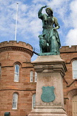 The statue of Flora MacDonald at Inverness Castle, Inverness, Highland. Picture Credit : Ross Graham / Scottish Viewpoint Tel: +44 (0) 131 622 7174   E-Mail : info@scottishviewpoint.com This photograp... Public 2011,summer,monument,sculpture,heritage,Bonnie,Prince,Charlie,memorial,building,architecture