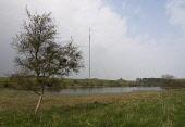 Looking across Lindean Reservoir, Selkirk Television mast, Scottish Borders. Picture Credit : Derek Mitchell / Scottish Viewpoint Tel: +44 (0) 131 622 7174   E-Mail : info@scottishviewpoint.com This p... Public 2011,spring,analogue,tv,cables,digital,support,wires,supporting,stanchions,telecommunications,television,communications