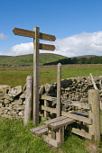 Signpost for Southern Upland Way long distance walk and Dryhope Tower at St Marys Loch in the Scottish Borders. Picture Credit : Derek Mitchell / Scottish Viewpoint Tel: +44 (0) 131 622 7174   E-Mail... Public 2011,summer,sunny,Yarrow,Valley,countryside,footpath,hills,ramblers,rambling,right,way,stile,tibbie,shiels