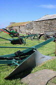 Corrigall Farm Museum is a restored farmhouse from the 19th Century, Harray, Mainland, Orkney. Picture Credit : Mark Ferguson / Scottish Viewpoint Tel: +44 (0) 131 622 7174   E-Mail : info@scottishvie... Public 2009,summer,sunny,attraction,history,heritage,farm,farming,plough,equipment,historical