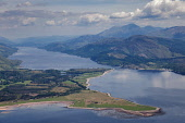 Sallachan Point and Corran Narrows on Loch Linnhe, Lochaber, Highlands of Scotland. Picture Credit : Peter Scott / Scottish Viewpoint Tel: +44 (0) 131 622 7174   E-Mail : info@scottishviewpoint.com Th... Public 2009,summer,sunny,aerial,lighthouse,ardgour,hills,mountains,forestry